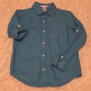 Janie and Jack boys linen shirt